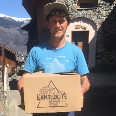 box de bières artisanales de la brasserie de l'Antidote